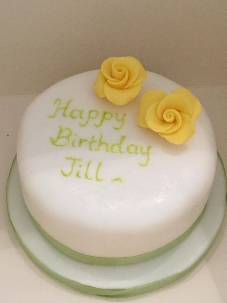 Night Owl Cakery Lemon and almond birthday cake 3.